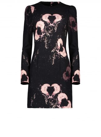 egon painted heart black dress violante amore product fron view