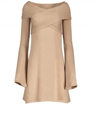 stella camel dress violanteamore front product view