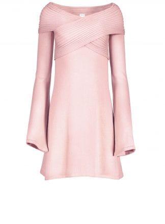 stella pink dress violante amore front view