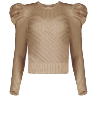 Violante Nessi Yayoy camel sweater