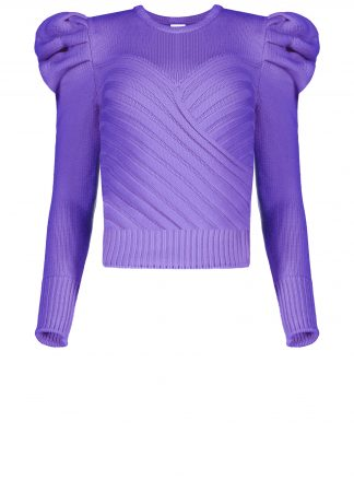 Violante Nessi Yayoy purple sweater
