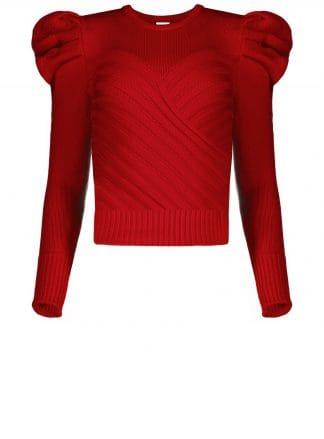 Violante Nessi Yayoy red sweater